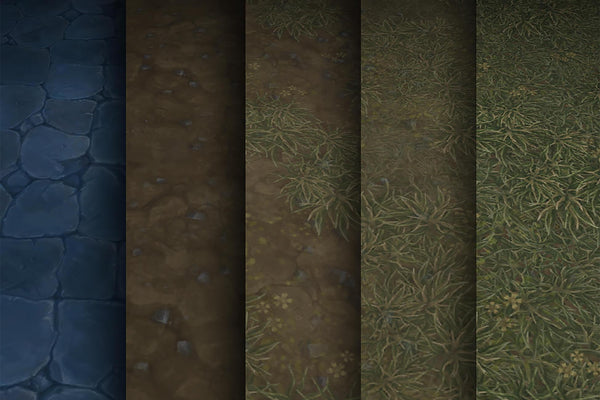 Textures - Grass Dirt Stone - Hand Painted Texture Pack 03
