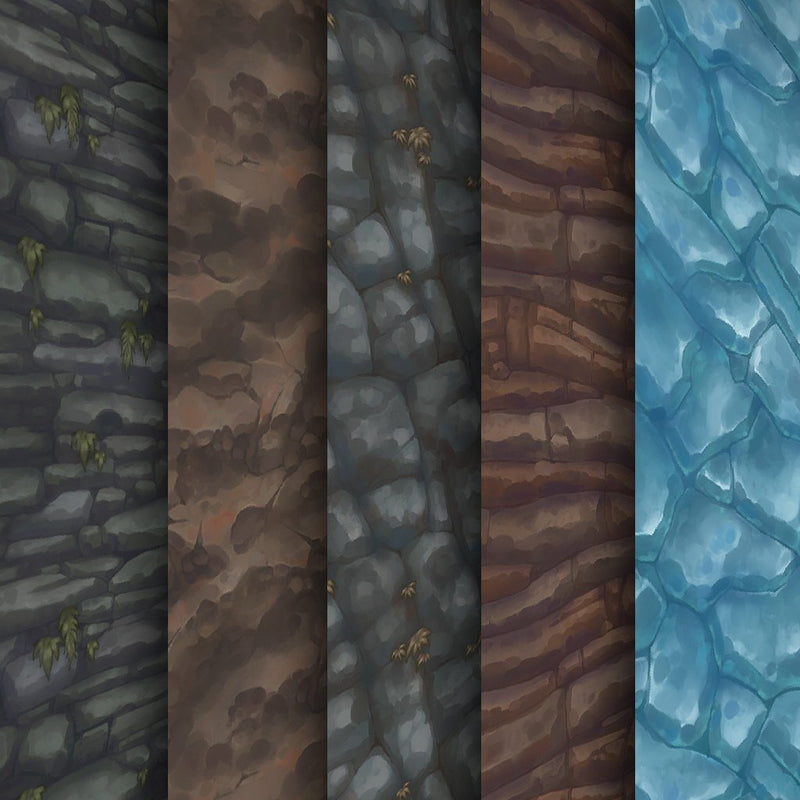 Textures - Hand Painted Textures Pack Mega Bundle 100+