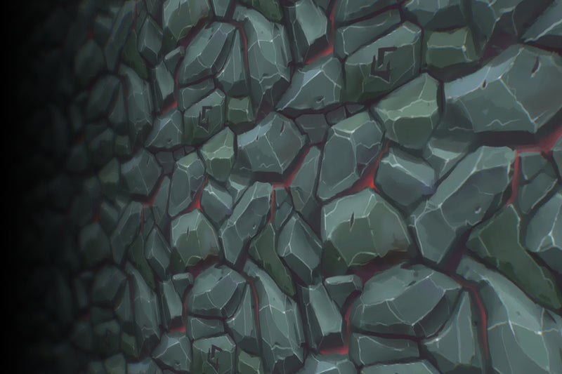 Lava Cave Stone Wall - Hand Painted Texture