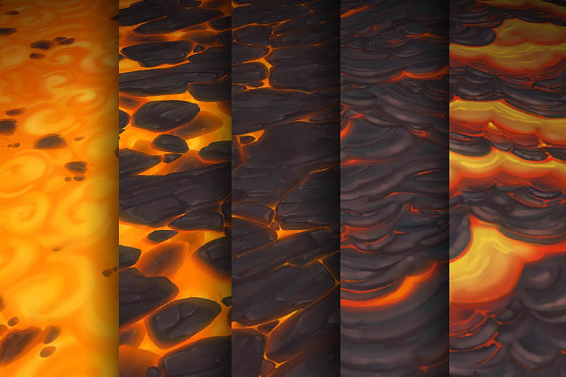 Lava -  Hand Painted Texture Pack 18