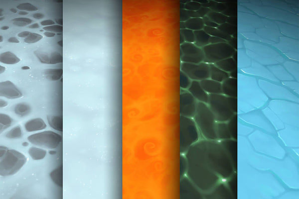 Textures - Lava Ice Snow Water - Hand Painted Texture Pack 09