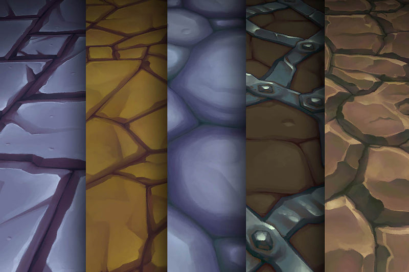 Orkish Stone - Hand Painted Texture Pack 20