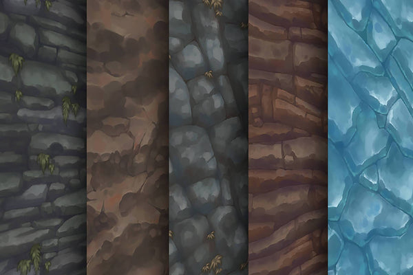 Textures - Rock Ice - Hand Painted Texture Pack 15