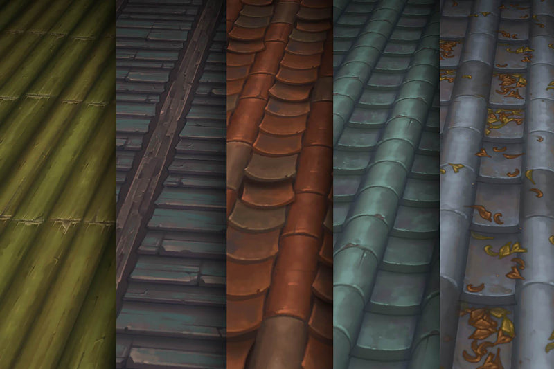 Roof Tiles - Hand Painted Texture Pack 19