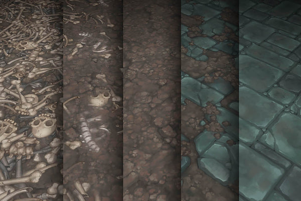 Textures - Stone Dirt Bones - Hand Painted Texture Pack 17