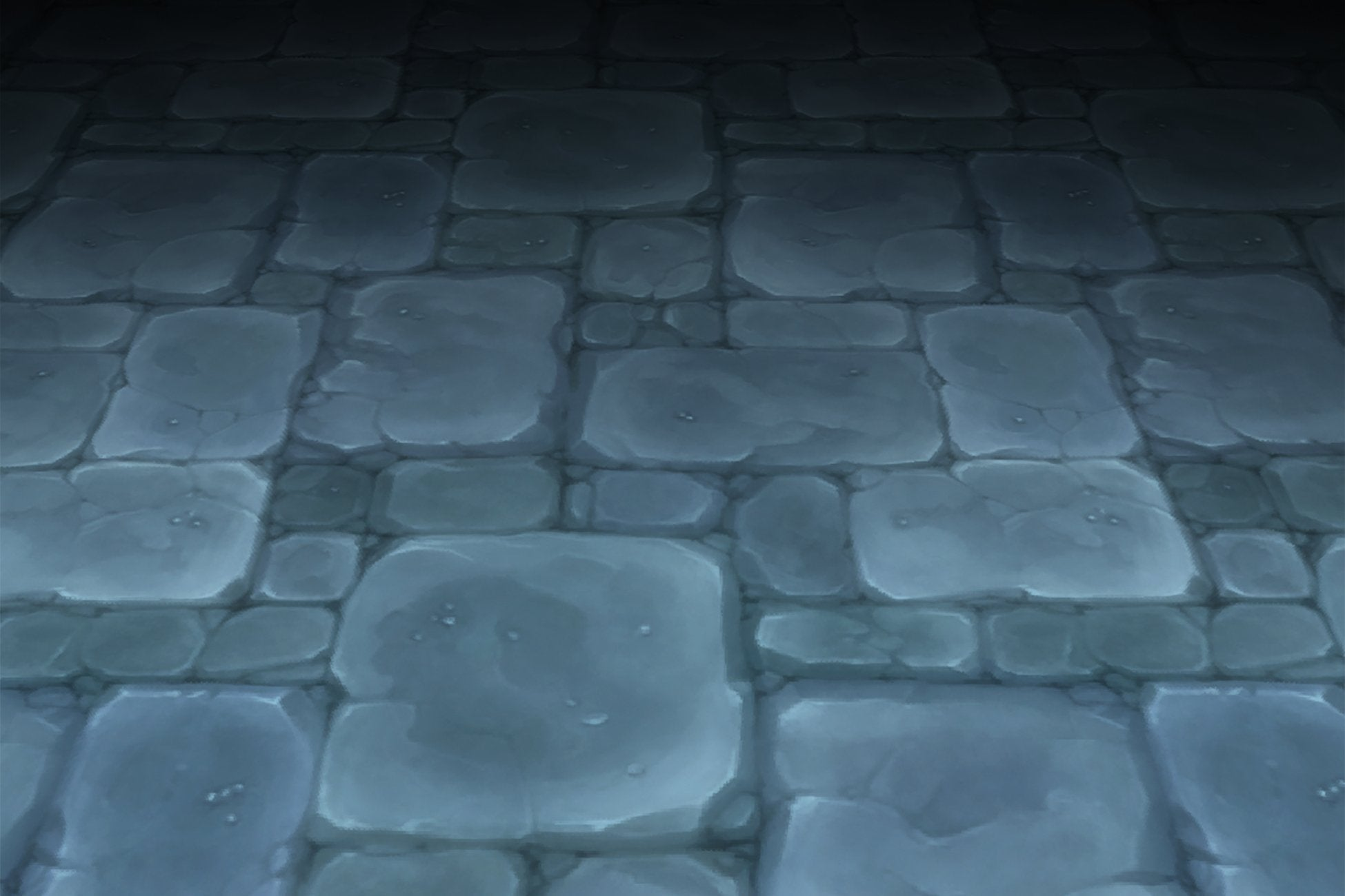 Textures - Stone Floor Blue Old Dungeon Hand Painted Texture V2