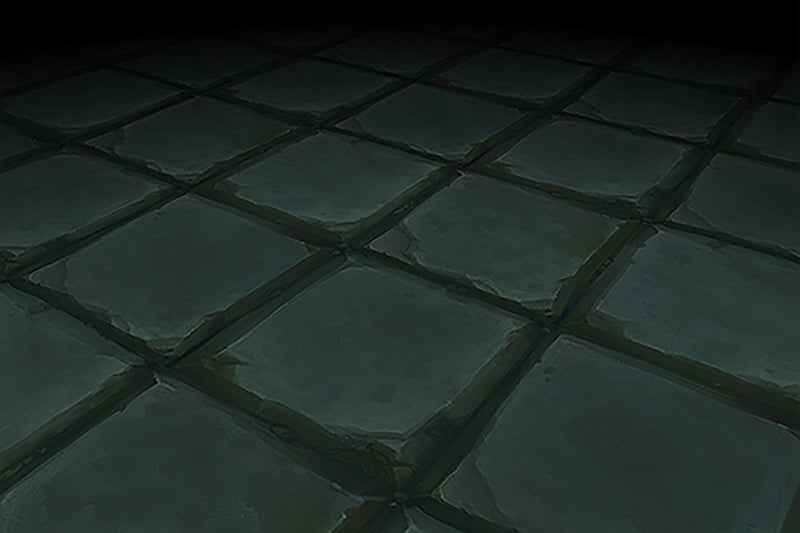 Textures - Stone Floor Blue Square Tiles Hand Painted Texture