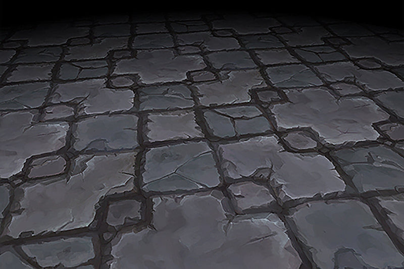 Textures - Stone Floor Grey Cross Pattern Hand Painted Texture