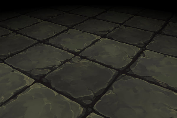 Textures - Stone Floor Grey Square Ancient Rough Hand Painted Texture