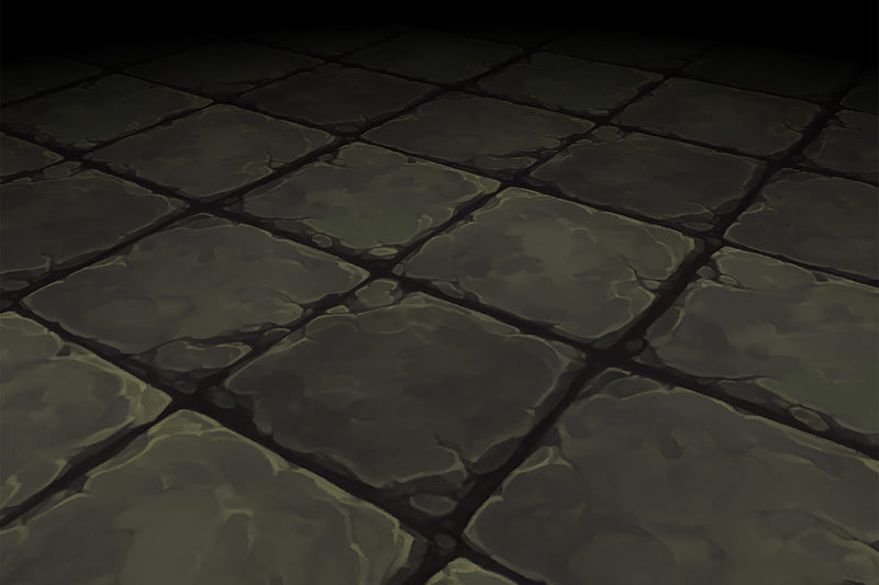 Stone Floor Grey Square Ancient Rough Hand Painted Texture