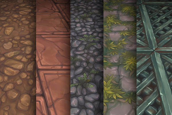 Textures - Stone Rock Iron - Hand Painted Texture Pack 11