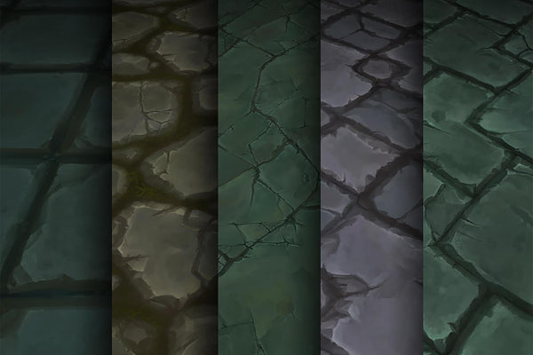 Textures - Stone Tile - Hand Painted Texture Pack 05