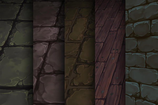 Textures - Stone Timber - Hand Painted Texture Pack 08