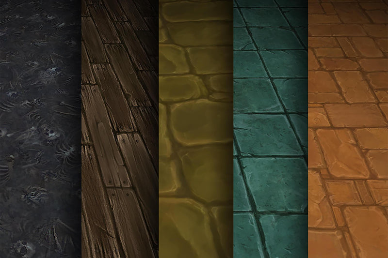 Stone Wood Bones  - Hand Painted Texture Pack 02