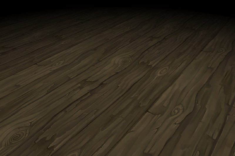 Wood Floor Long Rough Planks Hand Painted Texture