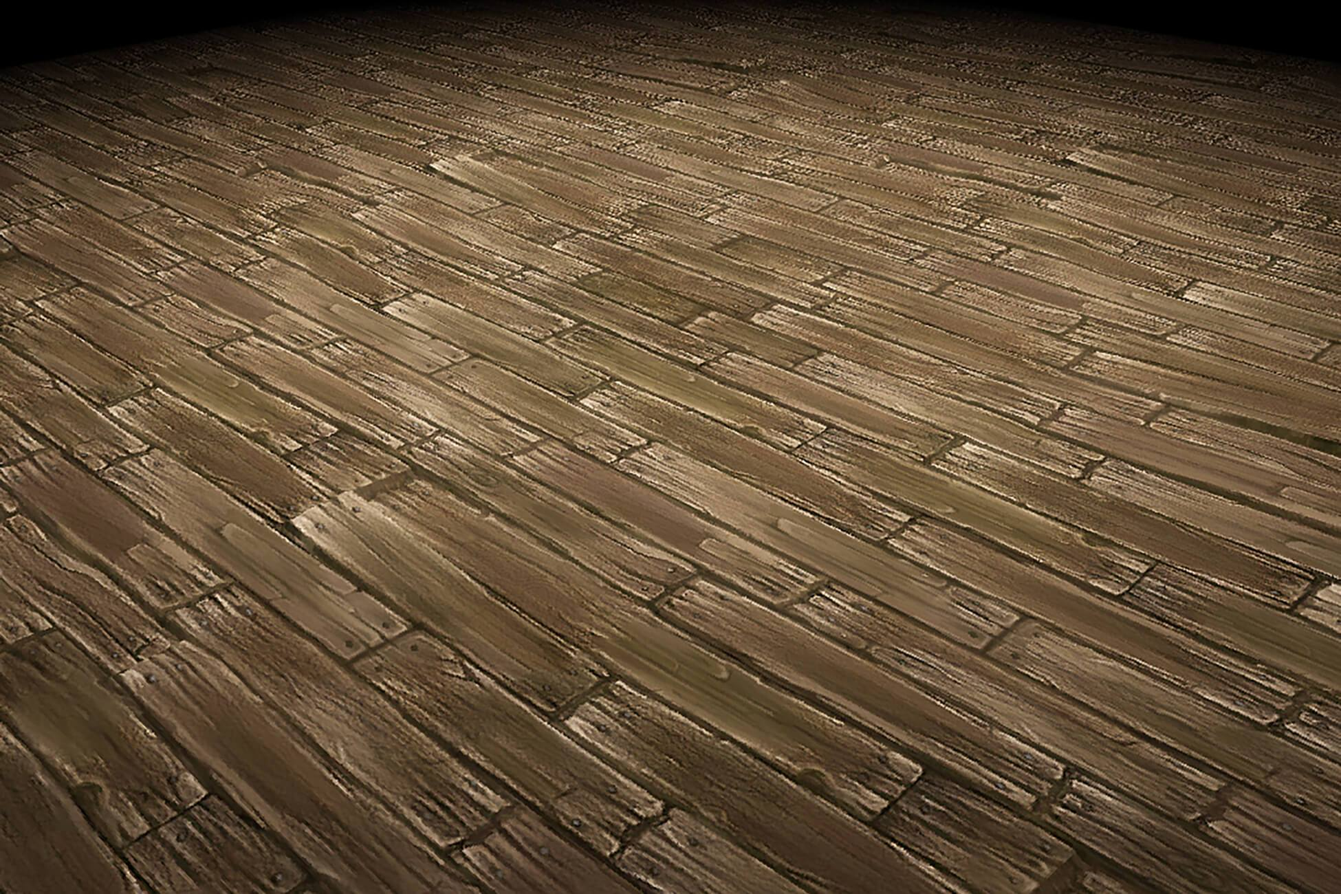 Wood Floor Old Planks Hand Painted Texture