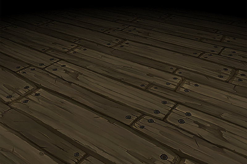 Wood Floor Porch Boards Hand Painted Texture