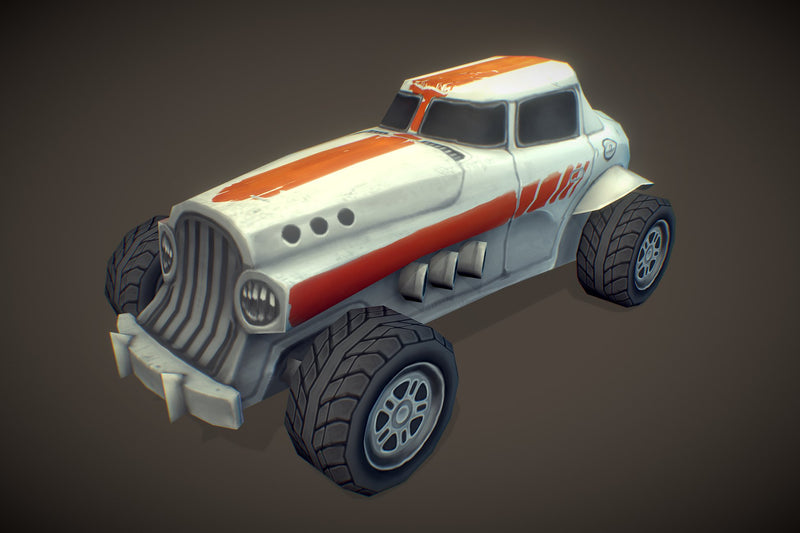 Vehicles  - Hot Rod Low Poly