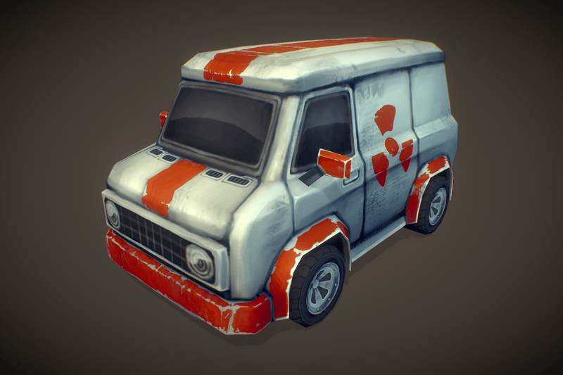 Vehicles  - Pickup Van Low Poly