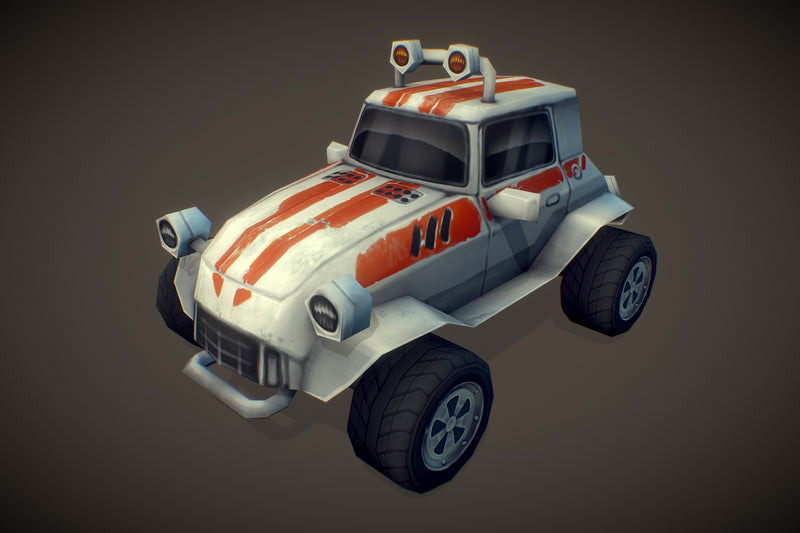 Vehicles  - Racing Dune Buggy Low Poly