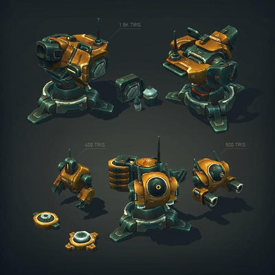 Vehicles - Sci-Fi Turret Constructor - SlavaZ