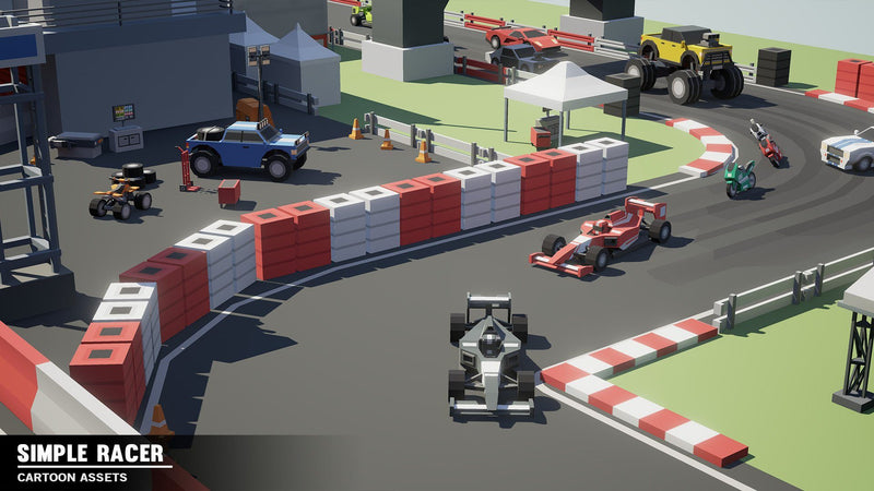 Vehicles - Simple Racer - Cartoon Assets - Synty