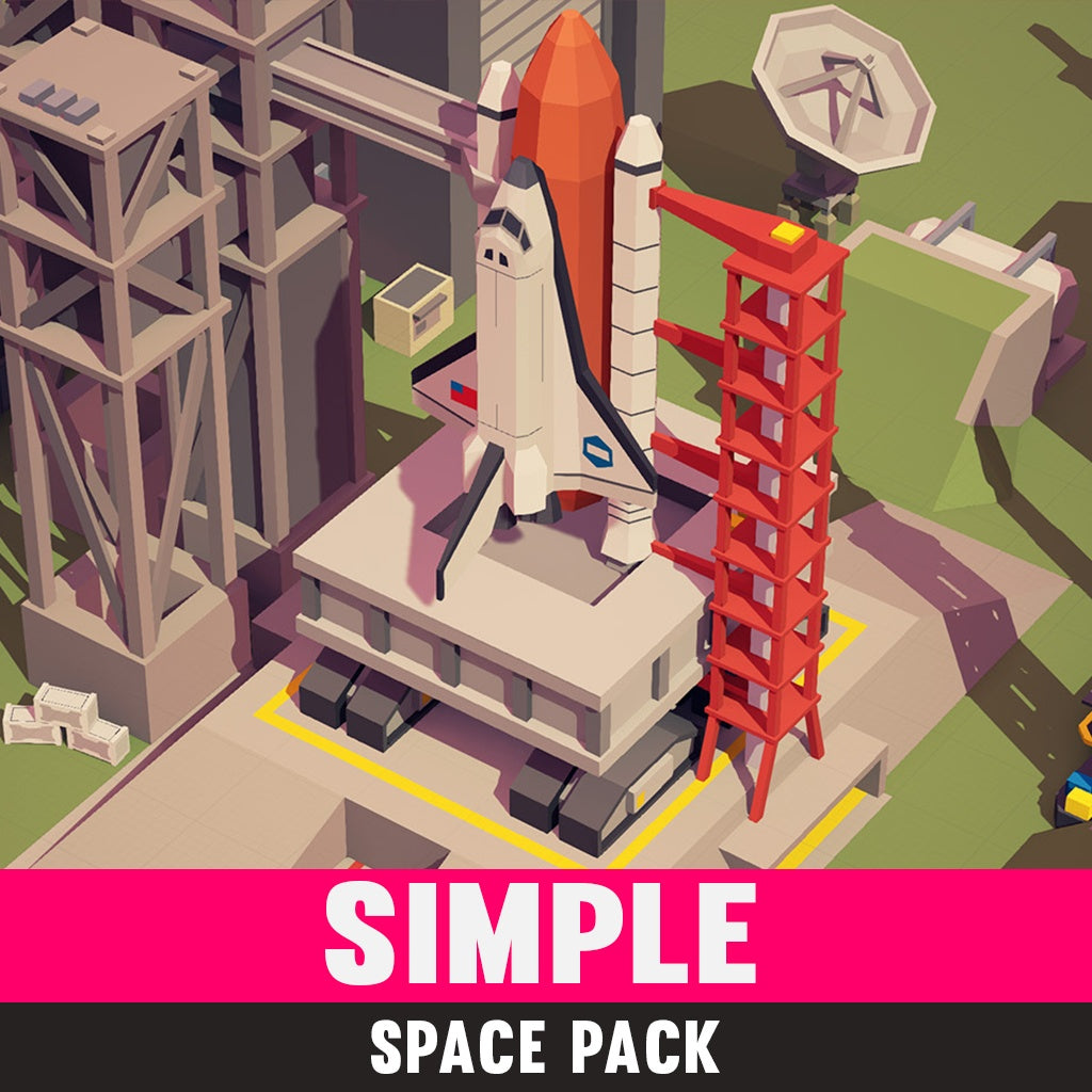 Vehicles - Simple Space - Cartoon Assets - Synty