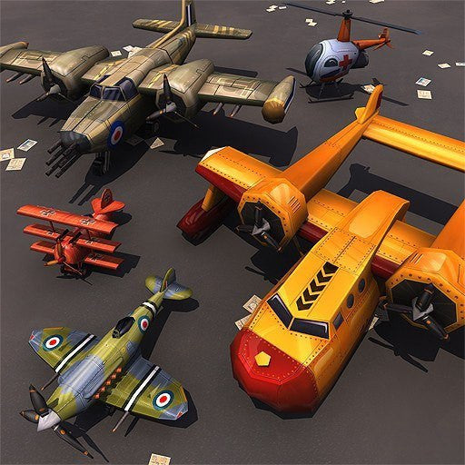 Vehicles - Toon Aircraft Set - Polygrade