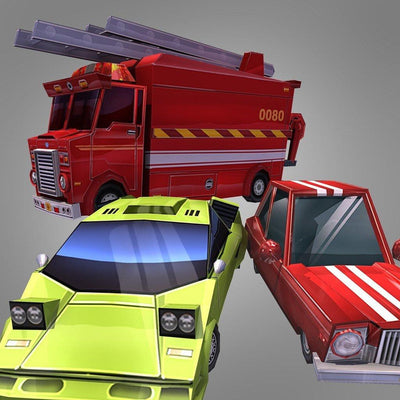 Vehicles - Urban Car Set - Polygrade
