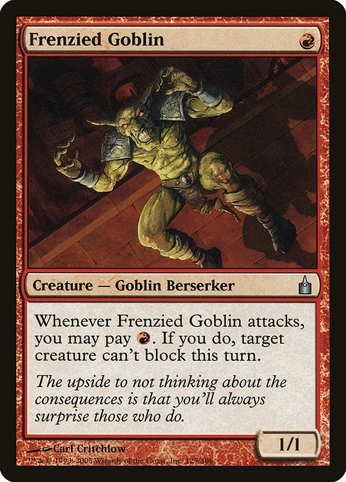 Frenzied Goblin [Ravnica: City of Guilds] | Gear Gaming Bentonville