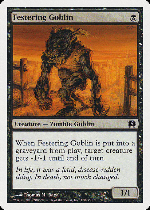 Festering Goblin [Ninth Edition] | Gear Gaming Bentonville