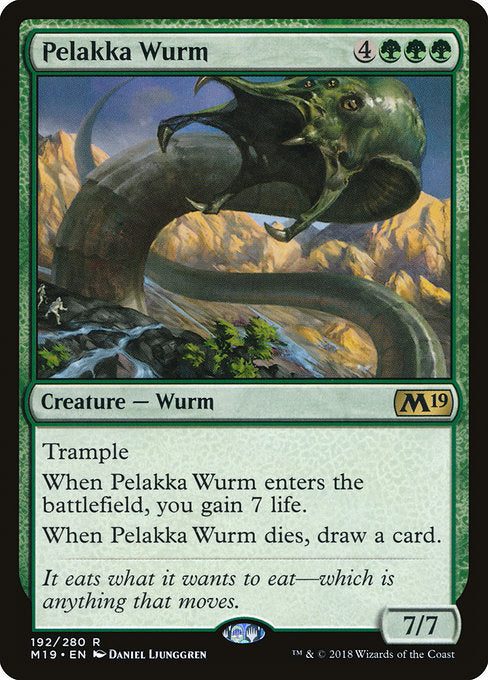 Pelakka Wurm [Core Set 2019] | Gear Gaming Bentonville