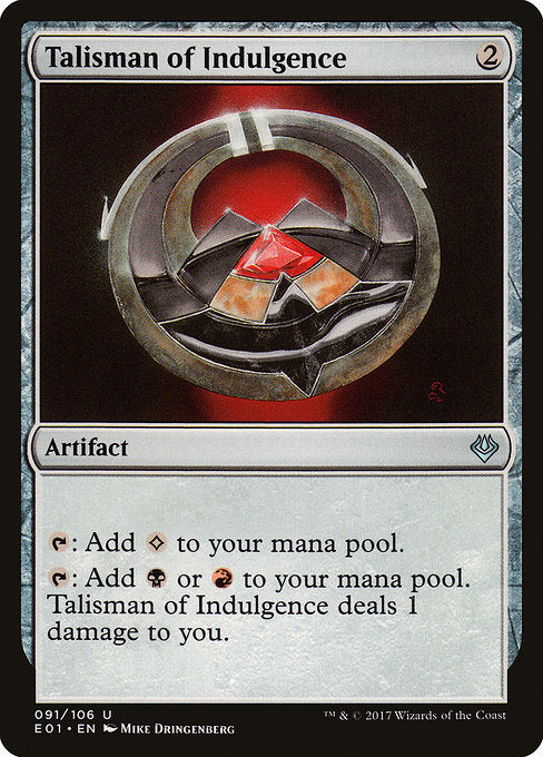 Talisman of Indulgence [Archenemy: Nicol Bolas] | Gear Gaming Bentonville