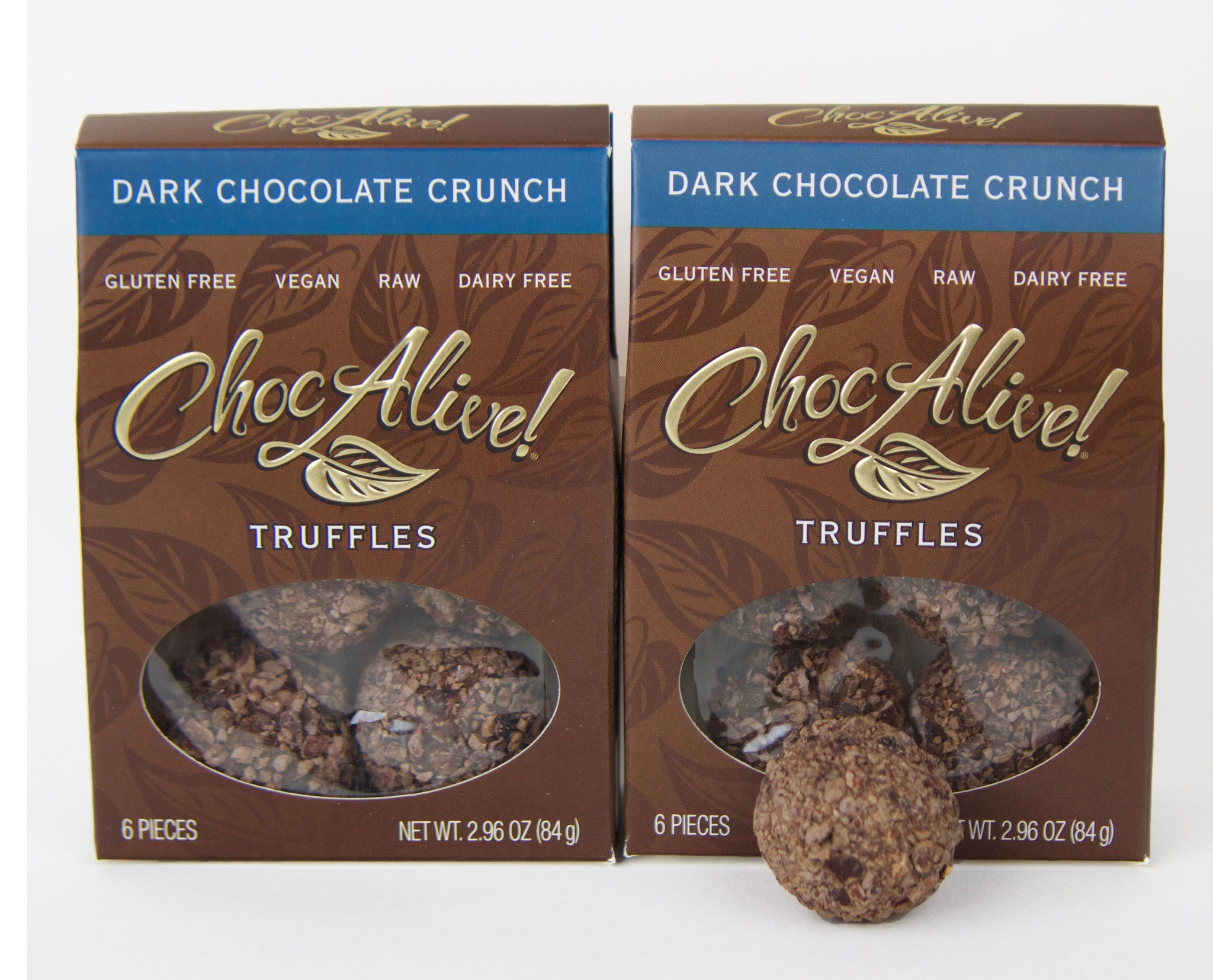Dark Chocolate Crunch Truffles, 2 Box Set