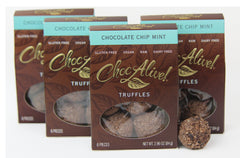 Chocolate Mint Chip Truffles, 4 Box Set