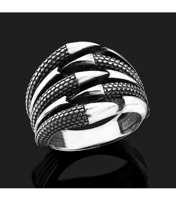 Eagle Claw Design 925s Silver Ring
