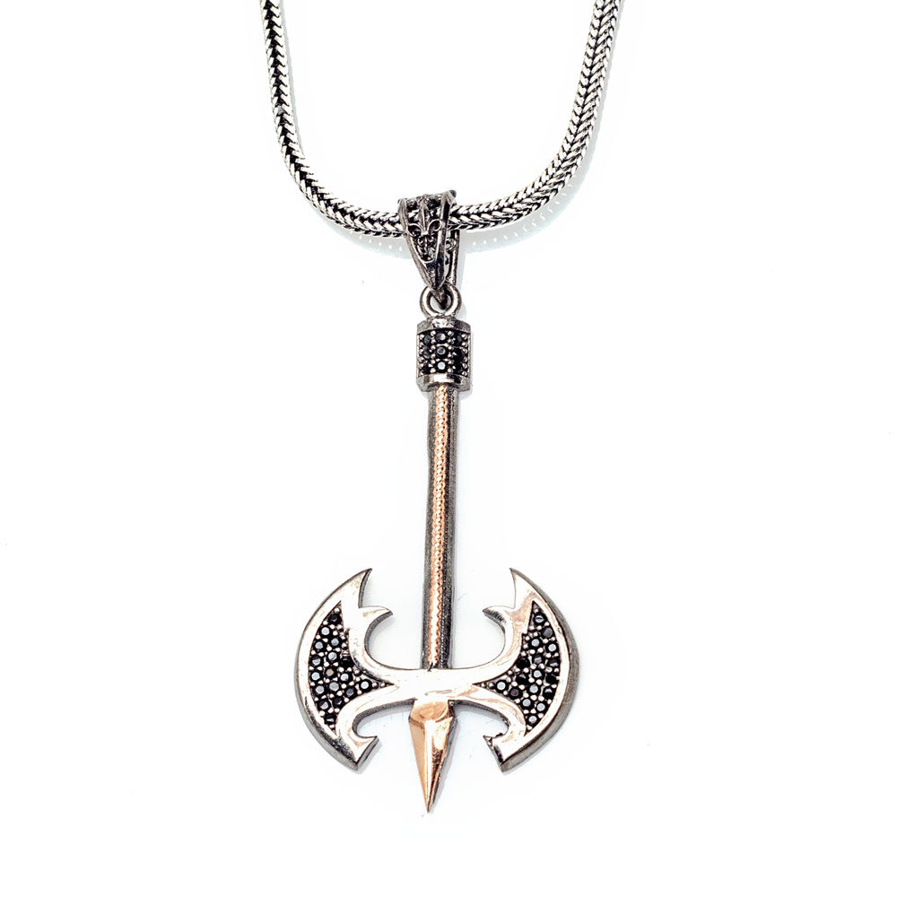 Viking Pirate Axe Pendant Necklace