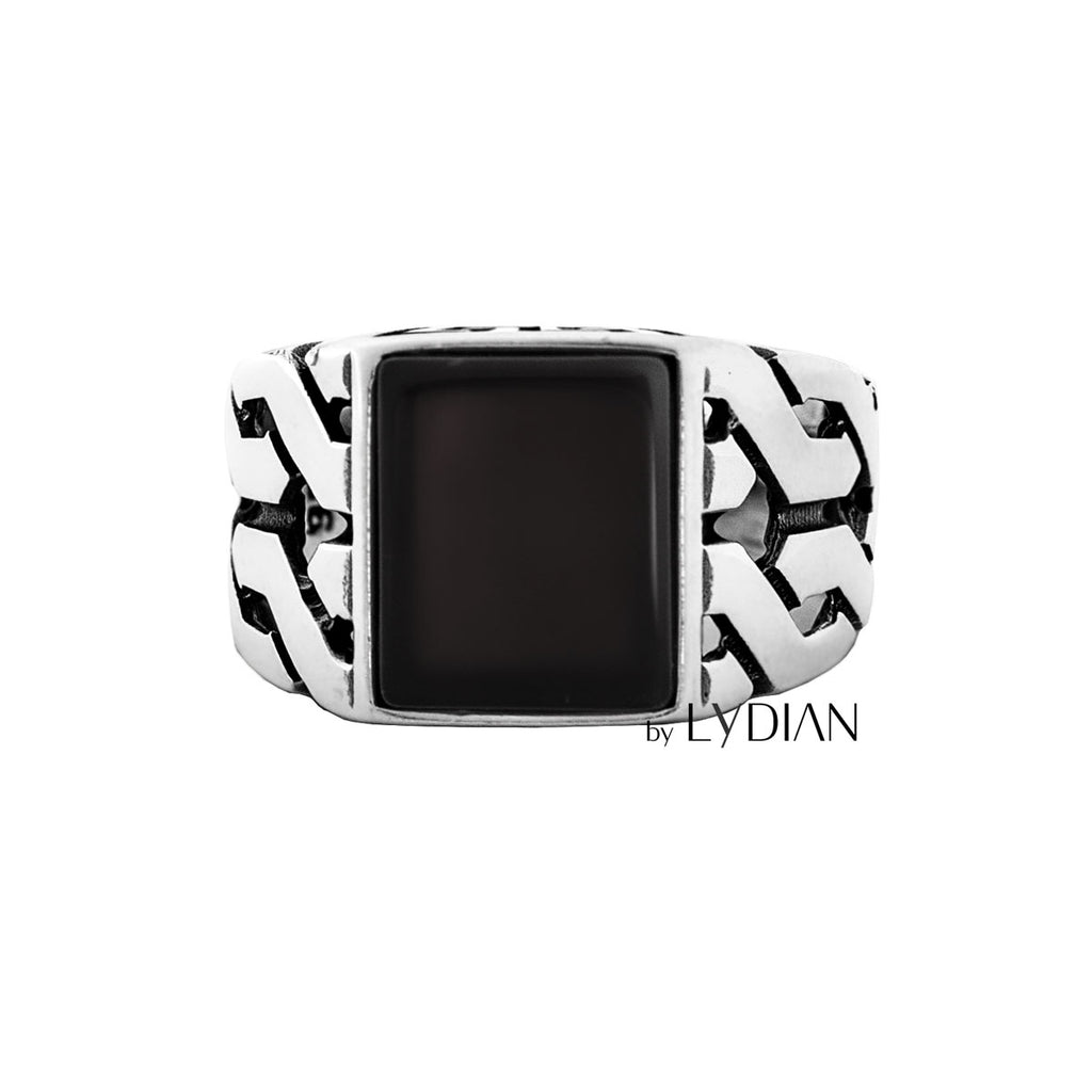 Black Onyx 925s Silver Ring
