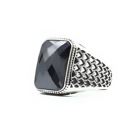 Black Onyx Stone 925s Silver Ring