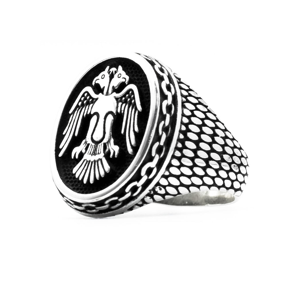 Double Eagle Ring in Sterling Silver