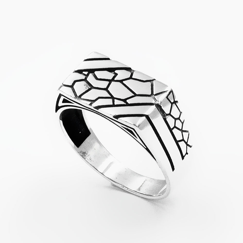 925 Sterling Silver Wall Signet Ring