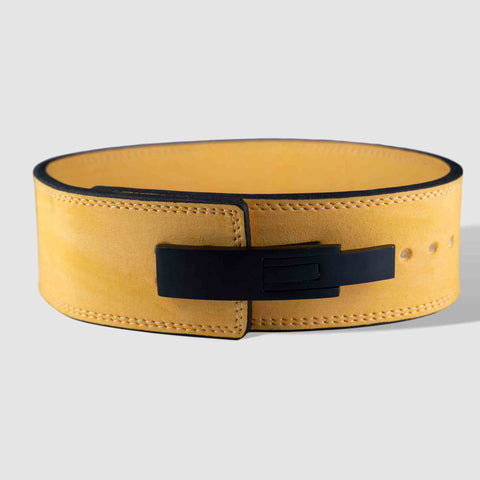 Strength Shop 10mm Lever Belt - IPF Approved - Yellow - Strength Shop USA
