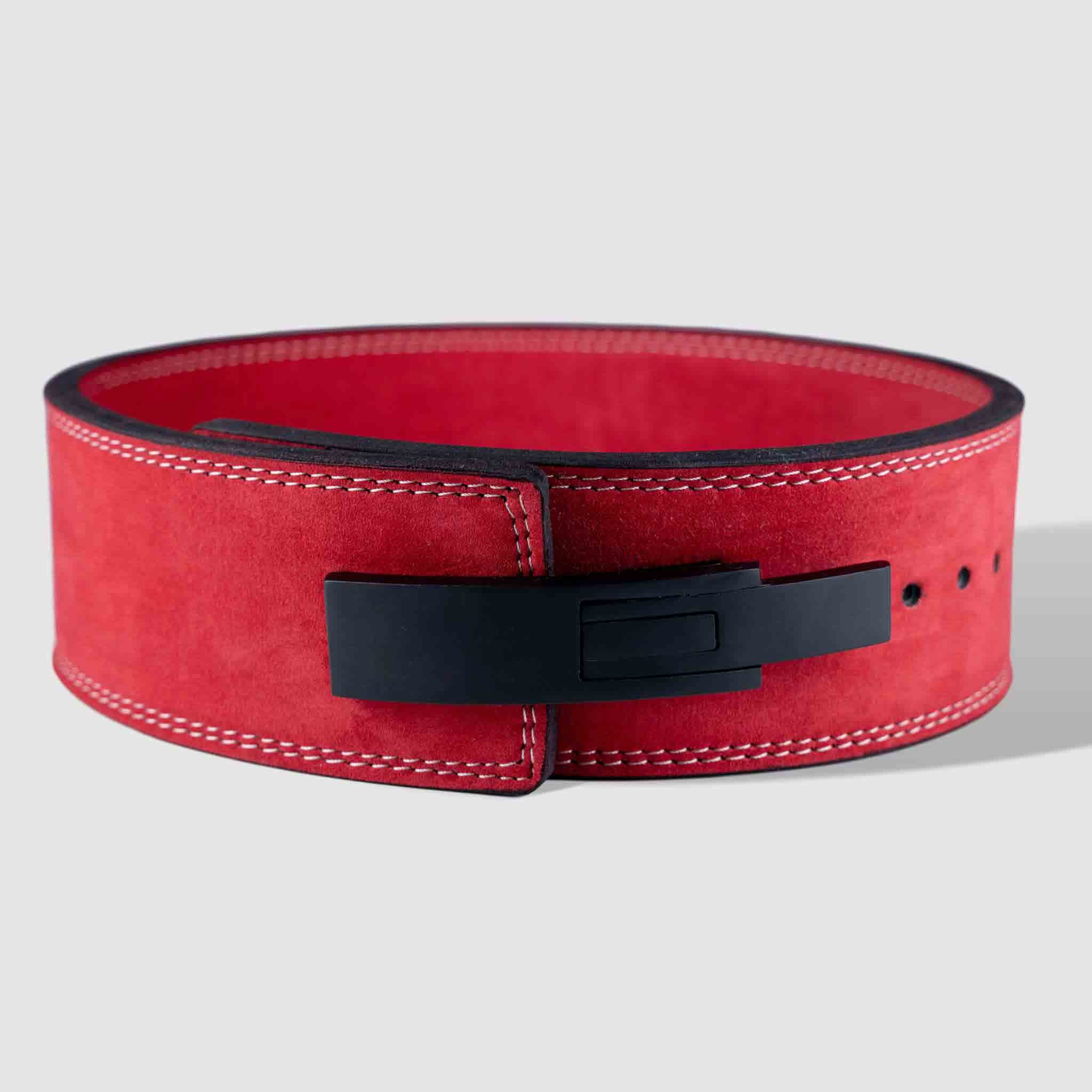 Strength Shop 10mm Lever Belt - IPF Approved - Red - Strength Shop USA
