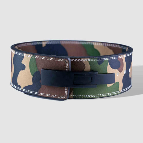 Strength Shop 13mm Lever Belt - IPF Approved - Camo - Strength Shop USA