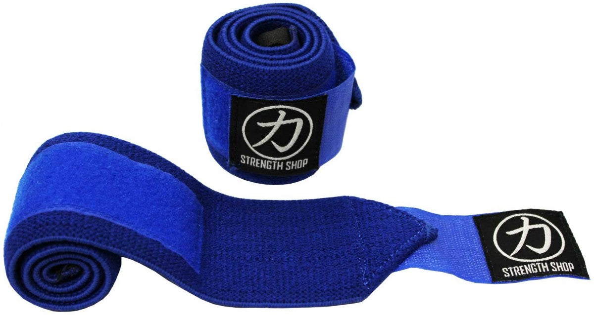 Strength Shop Stiff Wrist Wraps - Blue - IPF Approved - Strength Shop USA