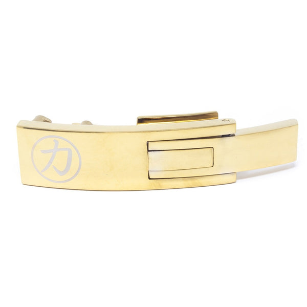Strength Shop Steel Lever Buckle - Gold w/lifetime warranty - Strength Shop USA
