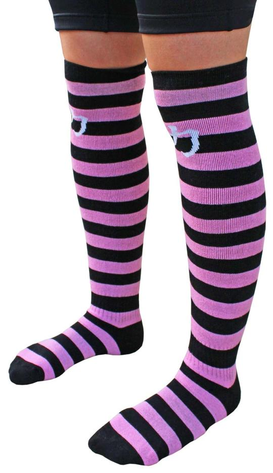 Strength Shop Deadlift Socks - Black/Pink - Strength Shop USA