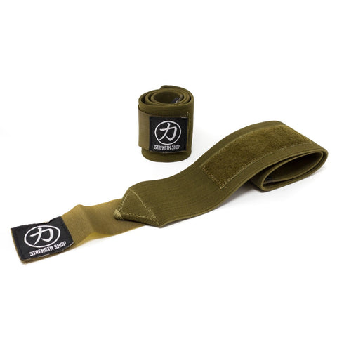 Strength Shop Super Stiff Wrist Wraps - OD Green - IPF Approved - Strength Shop USA
