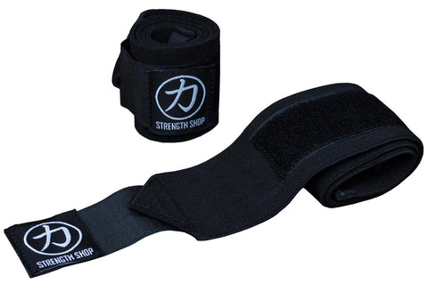 Strength Shop Super Stiff Wrist Wraps - Black - IPF Approved - Strength Shop USA