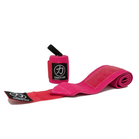 Strength Shop Stiff Wrist Wraps - Pink - IPF Approved - Strength Shop USA